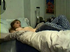 French teen girl masturbates with a carot
