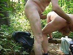 Fisting in the woods