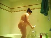 hidden spy cam of my ex in the shower