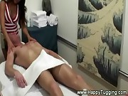 Handjob for massage client on massage table
