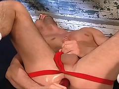 Red flashlight up the ass