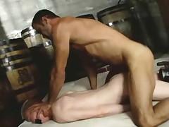 Huge dick fucks tied up twink