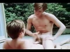 Vintage Poolside Twink Gay Orgy