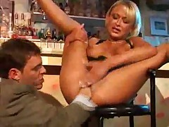 HOT German Bitch Fucked in a Bar