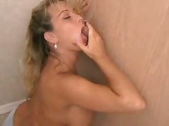 Busty Amber Lynn Enjoying Gloryhole