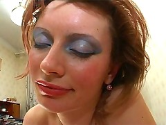 Makeup like a whore and cock in her box