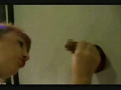 Gloryhole BBW Redhead
