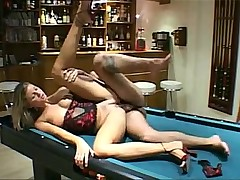 Horny Chick Screewed on a Pool Table