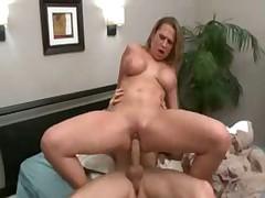 Sexy blonde was punished