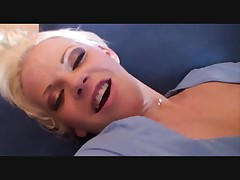 Hot blonde fucks good
