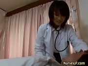 Woman asian doctor visiting patient