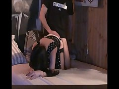 Amateur cock bouncing and doggy style sex