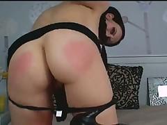 Webcam babe double penetration masturbation