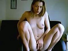 Blond webcam slut pussy rubbing until orgasm