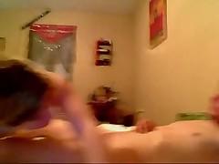 Cute blonde fucking on webcam
