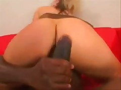 Hot blonde punished by black cock
