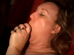 Plumpy mature woman fucked by black cocks