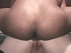 Mature  black dick up her ass, makes him cum in mouth