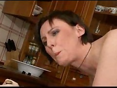 Nice mature sex in kitchen