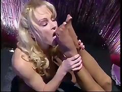 Sweet lesbians striptease