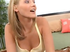Sexy blonde lesbians with toys