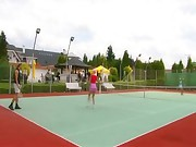 Tennis Whores - Lucie Theodorova Public Anal