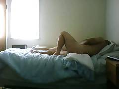 Girl get some action in her bed