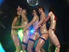 5 japanese girls. Micro Bikini Oily Dance