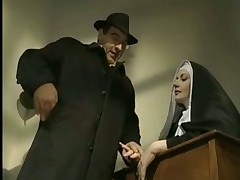 Naughty nun anal sex