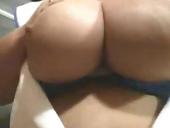 Fat nurse strips and masturbates
