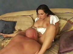 Older guy fucks a busty nurse slut