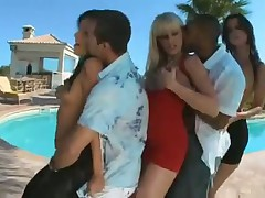 Six Girls and three guys Pool Party