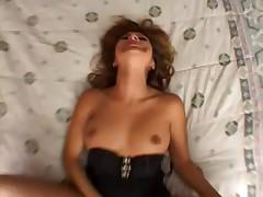 Big dick fucks her cunt in POV
