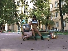Lesbian public sex