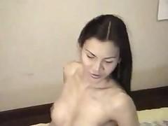 Teen Asian ladyboy dancing