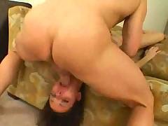 Big cock makes 18 year old gag