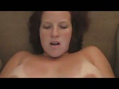 Creampie for this mature chubby slut