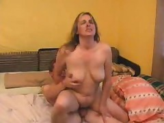 Chubby mom fucked by young guy