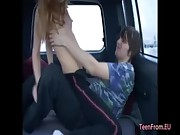 Euro amateur sex in the car