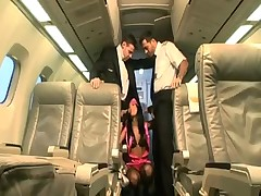 Gorgeous stewardess bitch riding a big cock