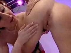 British lesbian threesome