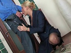Fucked in the stairwell by two younger men