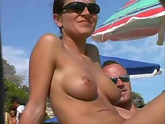 Voyeur cam at nudist beach