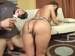 Hot milf fucks her husband young friend