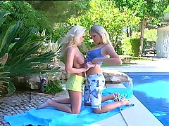 Two hot blonde lesbians