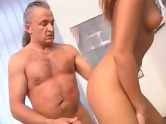 Teen with a much older man fucked