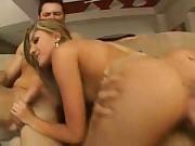 Blonde in Stockings Sofa Sex