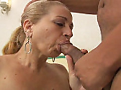 Blonde Brazilian Mom - 58 years old fuck