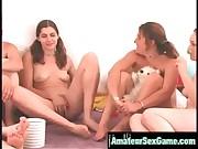 amateur lesbian friends enjoy groupsex games