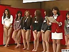 Mosaic; Bottomless no panties Japanese employees play sex ga...